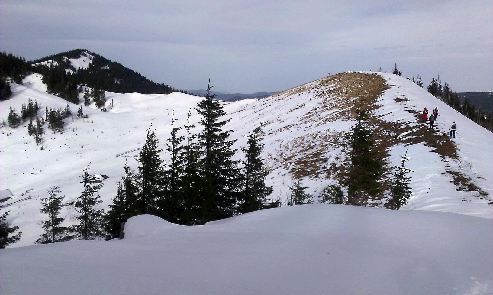 На цьому горбі також сніг поздувало