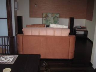 sofa from kitchen