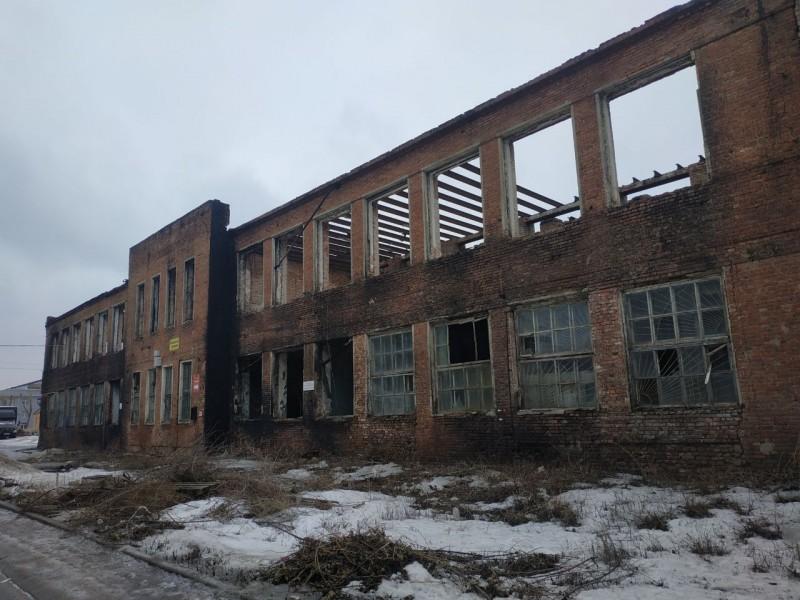 состояние производственного здания на бывш. экс.заводе