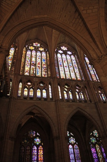 Stained glass, Leon Cathedral2