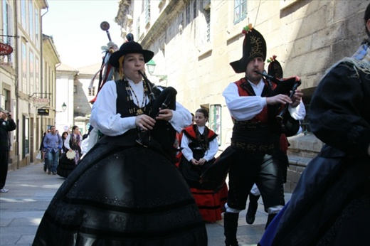 Bagpipe bands, Santiago de Compostela