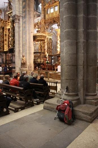 Lightening the load. Cathedral of Santiago de Compostela