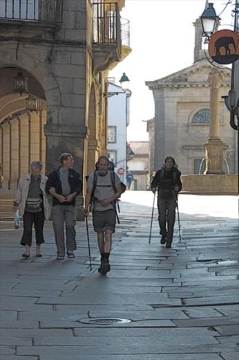 Most pilgrims arrive on foot, Santiago de Compostela